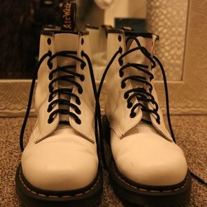Dr. Martens 1460 White 8 Eye Boots